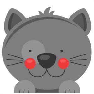 Daily Freebie 5-30-15: Miss Kate Cuttables--Peeking Cat SVG scrapbook cut file cute clipart files for silhouette cricut pazzles free svgs free svg cuts cute cut files