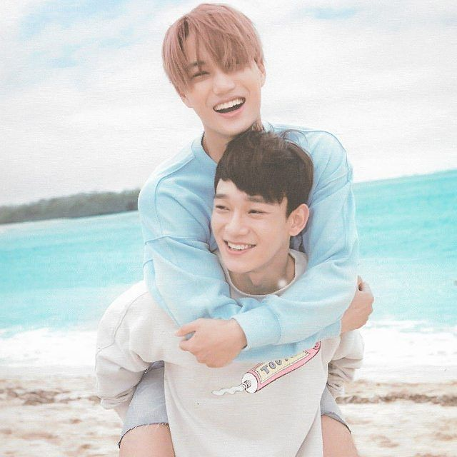 #KAI 커이 AND #CHEN [SCAN] EXO Dear Happiness Photobook❤i love this picture so much >< cr.owner