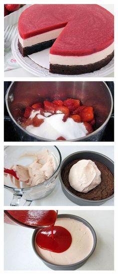 Himbeere/Erdbeere Torte