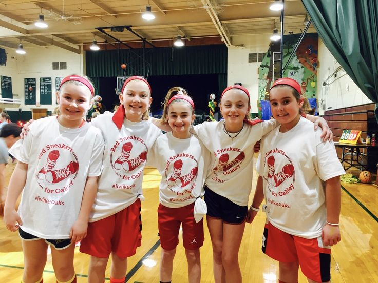 """Post from Deb Trani-Eckert: Olivia Eckert and friends named their team """"Red Sneakers for Oakley"""" in a hoops tournament at The Rumson Country Day School for the Horizons program fundraiser event @rcdsgators #hoopsforhorizons #rcds #redsneakersforoakley #foodallergyawareness #livlikeoaks"""