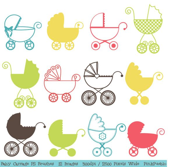 Check out Baby Carriage Photoshop Brushes by PinkPueblo on Creative Market