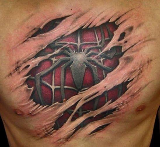 superman is really spiderman tattoo 3d pinterest. Black Bedroom Furniture Sets. Home Design Ideas