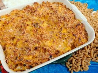Rocco Dispirito's low cal mac n cheese. So delicious and only 227 cal per serving!