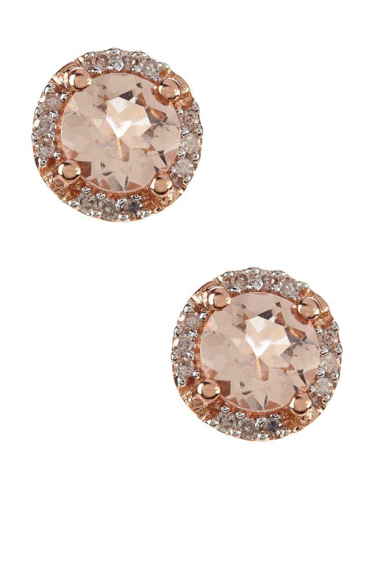 My Favorite Type Of Earrings  Diamond Studs, Classy And Elegant Rose Gold  Diamond &