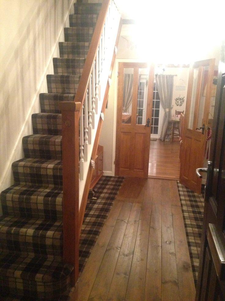 hallway tartan carpet