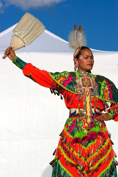 Jingle dancer.  Magnificent costumes and movements.