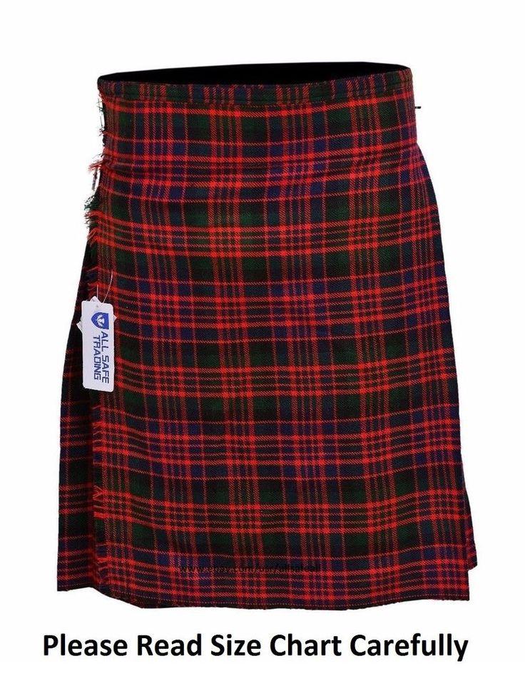 MacDonald Men's 5 Yard 13 Oz Casual Wear, Light Weight, Scottish Tartan Kilt #AllSafe #Kilt