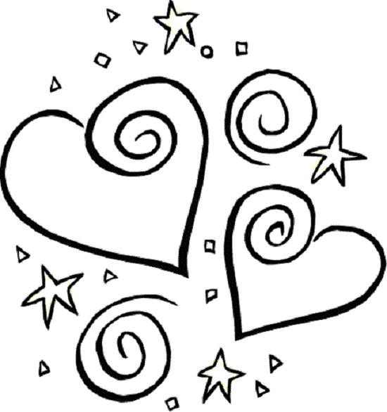 Stars And Heart Valentine Coloring Pages Printable Book To Print For Free Find More Online Kids Adults Of