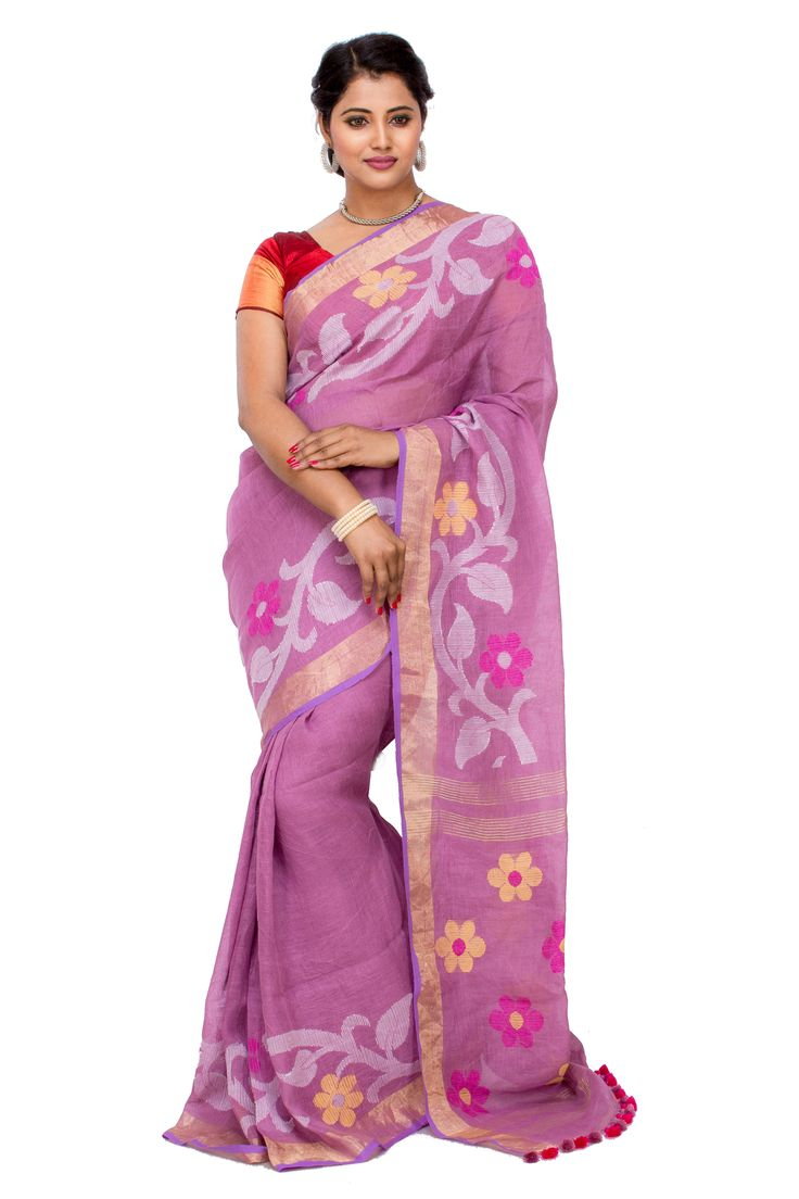 Handloom Designer Pallu and Designer BP Khadi Saree 2