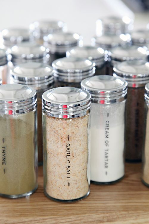 52 diy spice jar labels - Glass Spice Jars
