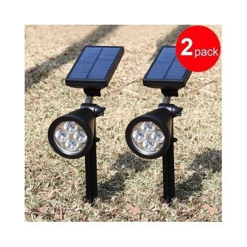Solar Outdoor LED Lamp Light Wall Yard Patio Driveway Stairs Pool Lights 2 Pack