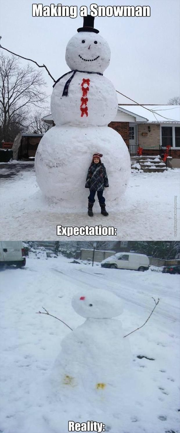 Why does the reality snowman remind me so much of those Easter chicks?