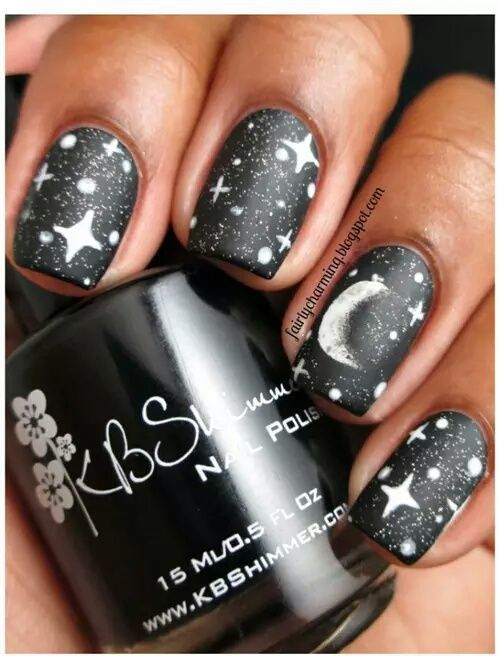Moon And Stars Nails Pictures, Photos, and Images for Facebook, Tumblr, Pinterest, and Twitter
