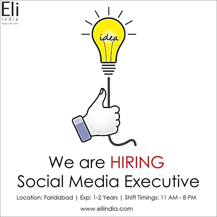 Social Media Executive Jobs Faridabad, Social Media Executive Opening Delhi NCR - Eli India