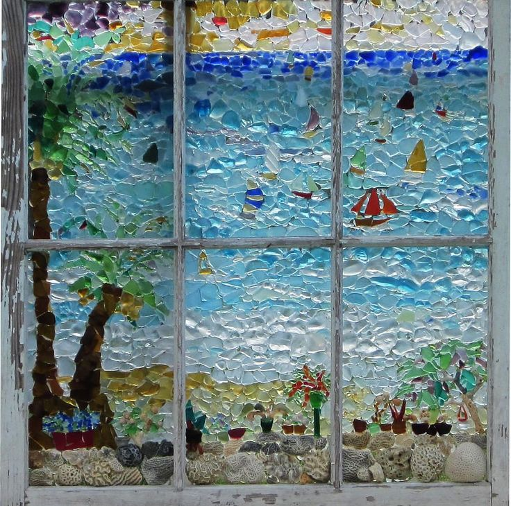 By The Sea Glass Art by Anne Marie Brown - By The Sea Fine Art Prints and Posters for Sale