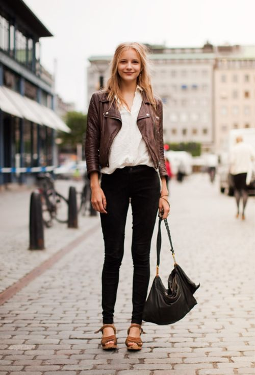 56 best Leather Jackets images on Pinterest | Black leather ...