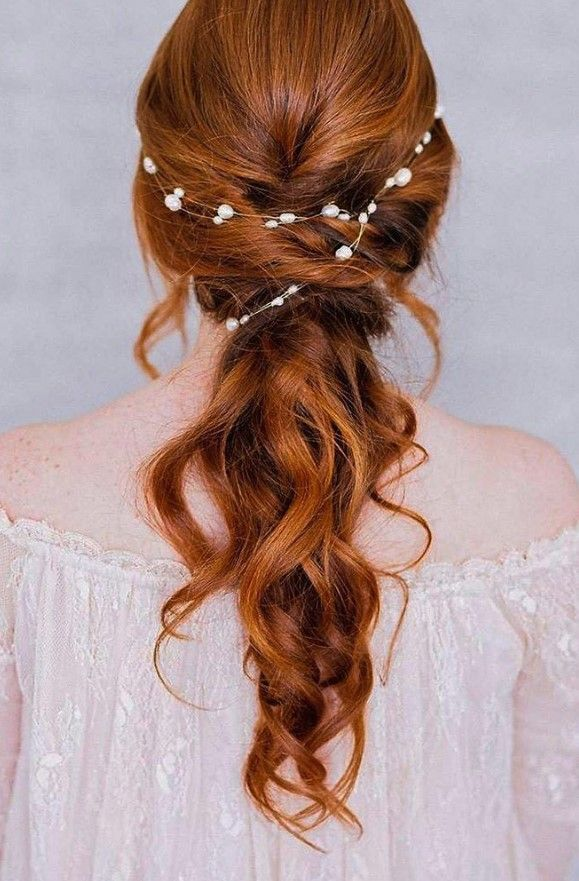 Brautfrisuren Fur Rote Haare 4 Brautfrisur Frisur Hochzeit Hochzeitsfrisuren Rote Haare