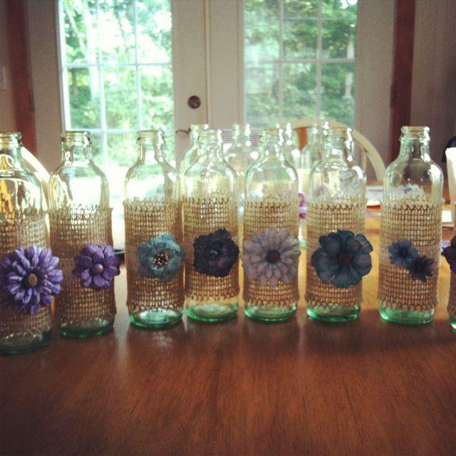 25 best ideas about glass coke bottles on pinterest for Glass bottle centerpiece ideas