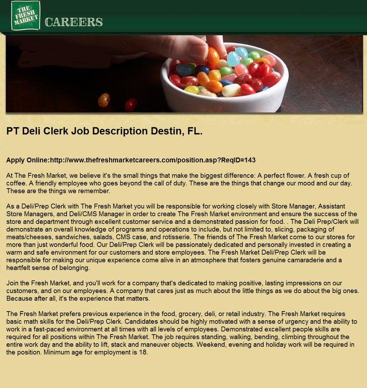 Pt deli clerk jobs in destin fl grocery market clerk
