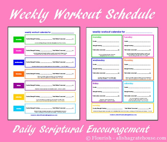 17 Best ideas about Weekly Workout Schedule on Pinterest | Workout ...