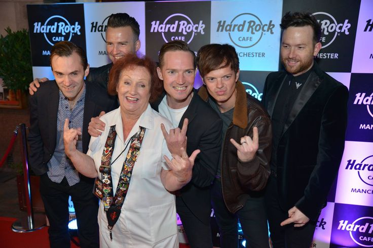 September: Rita Gilligan poses for photos with 'The Feeling' as part of our 15th anniversary party. The event rounded off a month's celebrations at Hard Rock Cafe Manchester, including a 15p burger promotion and the release of 12 Manchester music-themed pins! #ThisIsHardRock