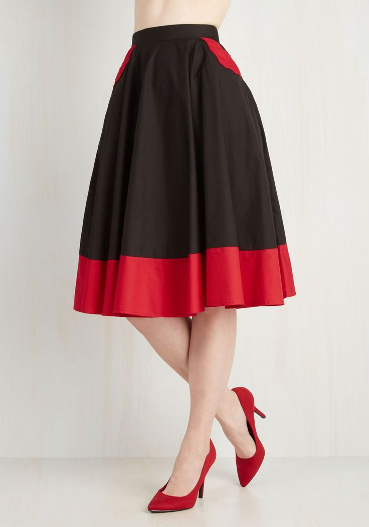Every Bewitch Way Skirt. In whichever direction you swish n sway this black skirt, compliments come soaring in. #black #modcloth