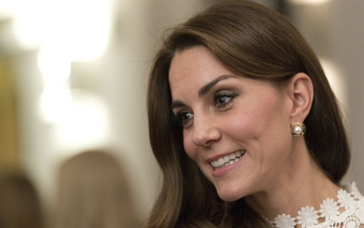 Download wallpapers Kate Middleton, 4k, portrait, Duchess of Cambridge, Catherine Elizabeth, Countess of Strathearn