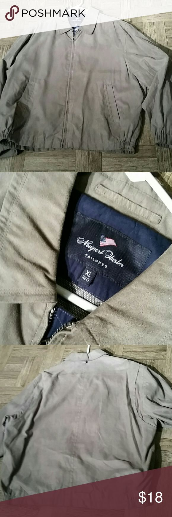 Men Light Jacket  Size XL Reg by NEWPORT  HARBOR Excellent condition -Might be NEW!!! Newport Harbor Jackets & Coats Lightweight & Shirt Jackets