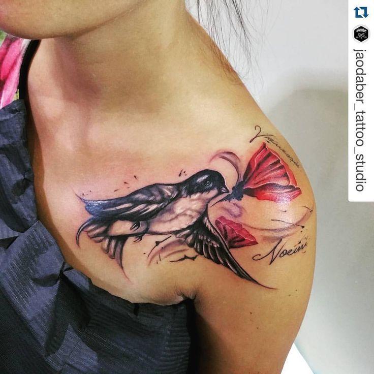 #Repost @jaodaber_tattoo_studio  ・・・ #sketch #design #tattoo #disegno #tatted #sketch #tatuaggio #colors #ink #inkinthemeat #inktattoo #tattooostuni #ostuni #trashpolka #color #instaart #instatattoo #instatop #freehand #manolibera #passion #passione #freehandtattoo #swallow #rondine #poppy #papavero