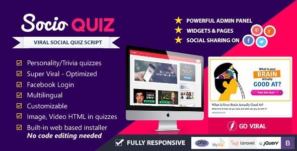 Download Free SocioQuiz v2 0 0 – Viral Quiz website with Facebook