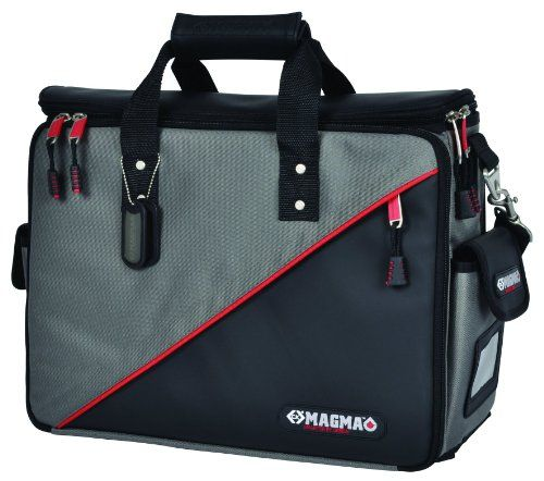 C.K Magma Technicians Tool Case - 50 internal and external pockets. Padded central compartment with divider. Separate side compartments for tools. Two internal zipped document pockets. Tools Not Included. Product Features  C.K Magma Technician's Tool