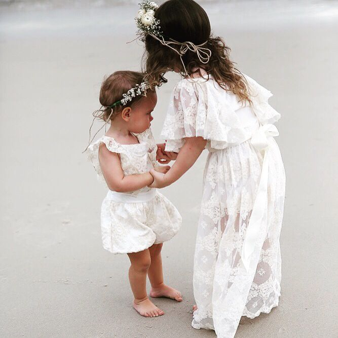 Girls lace dresses by Tea Princess  perfect for family photos, weddings, flowergirls, communion