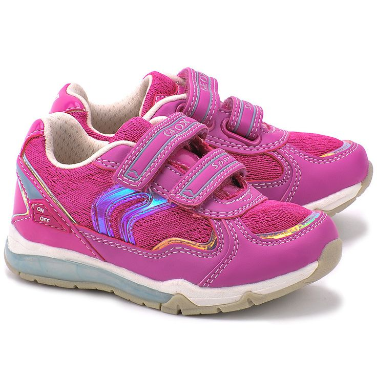 GEOX Junior Magica - Różowe Nylonowe Sportowe Dziecięce - Mivo  #mivo #mivoshoes #shoes #buty #geox #respira #technology #kids #pink #color #new #collection #spring #summer #2015