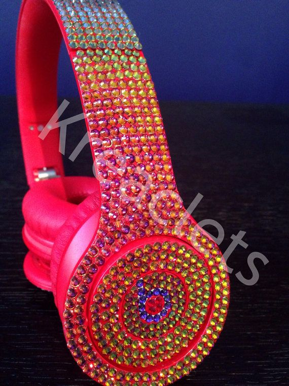 swarovski crystal beats by dre solo red new