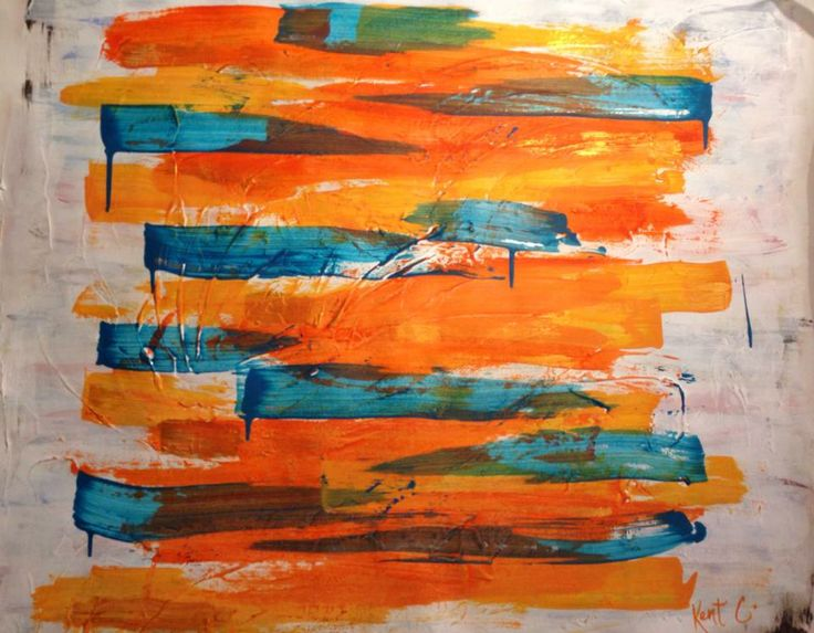 Acrylic textures and paint on canvas by Kent Coderre - Abstract