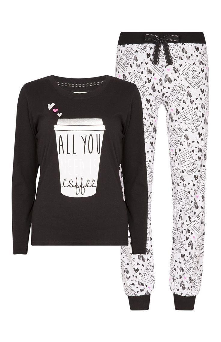12€ Primark - Pijama con estampado de café
