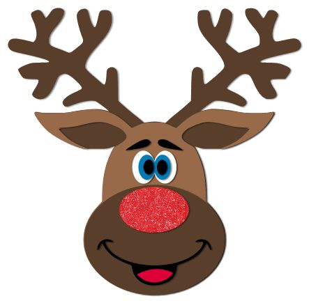 Adorable Reindeer Svg Cut File Paper Crafts Svg Cuts