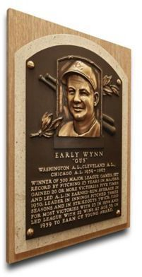 $89.99 - MLB Cleveland Indians Early Wynn That's My Ticket Hall of Fame Canvas Plaque - Turn your office or man cave into your own Cooperstown with the MLB Early Wynn That's My Ticket Hall of Fame Canvas Plaque. Perfect for any sports memorabilia collector, this plaque features the face of your favorite MLB player and a brief write-up.