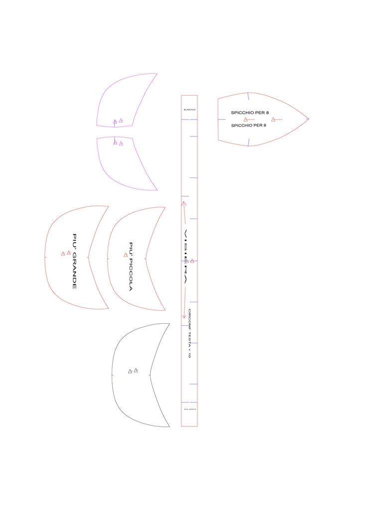 cap pattern cutter http://pausacioccolata.blogspot.it