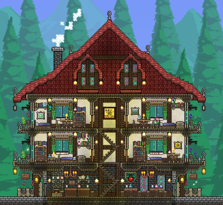 150 best terraria and starbound images on pinterest for Terraria house designs