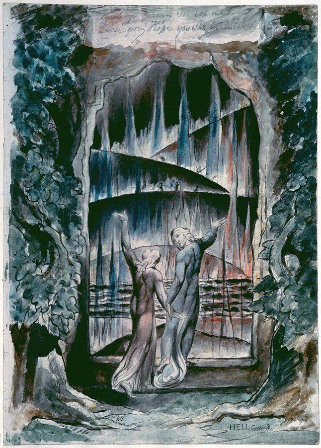 Божественная Комедия Данте. Ад. Иллюстрация (художник Уильям Блейк)