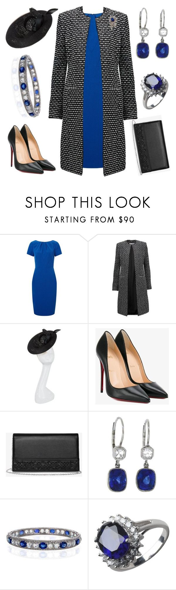 """""""Visiting Arlington Cemetary"""" by nmccullough ❤ liked on Polyvore featuring Adrianna Papell, Oscar de la Renta, Philip Treacy, Christian Louboutin, White House Black Market, 64 Facets and Lord & Taylor"""