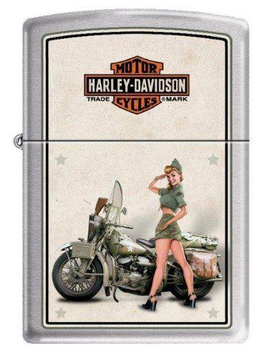 Harley-Davidson Army Theme Pin-Up Zippo Lighter