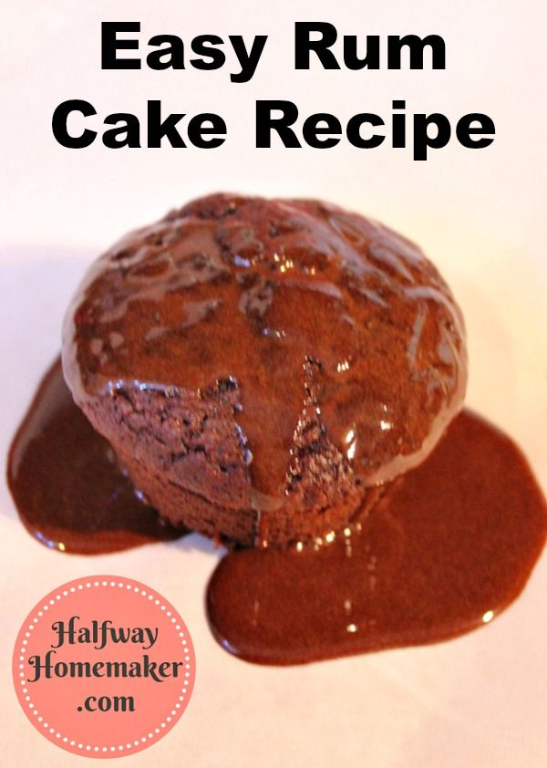 Easy rum cake recipe chocolate cakes spiced rum and for Mix spiced rum with