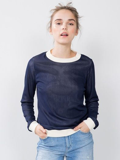 Mesh pullover | 7166485 | Blå | BikBok | Norge