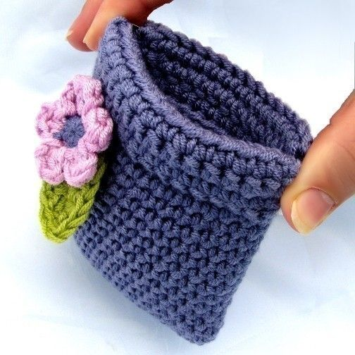 Pattern Crochet Coin Purse Squeeze Pinch Frame with Flower Instant Digital Download pdf