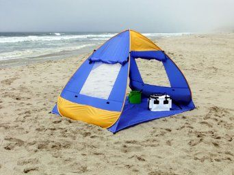 Amazon.com: Genji Sports Pop Up Family Beach Tent And Beach Sunshelter: Sports & Outdoors