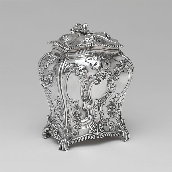 Tea Caddy  Chased Silver Maker: Emick Romer  ( exile Norwegian, 1724–1799) 1762–63 Made in London, England