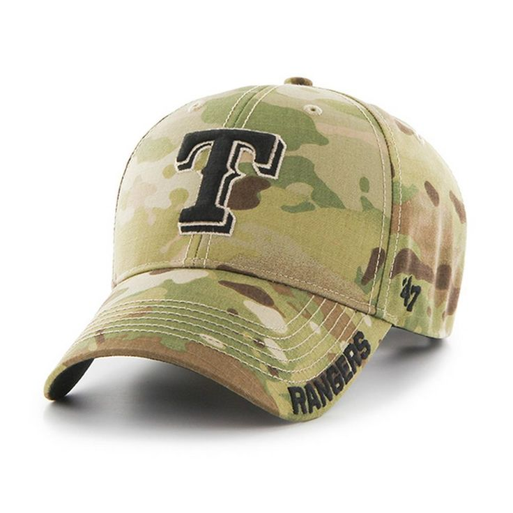 Camo Adjustable Texas Rangers Myers MVP Hat