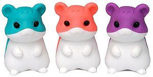 Cute Japanese Iwako Hamster Eraser - Purple Color Only, This Is for One Hamster, NOT 3.